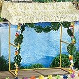 Amscan Tiki Bar Hut, Includes Reusable Tiki Bar Hut and Decorative Hibiscus Garlands