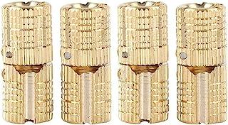 4-delig/pakket messing verborgen - barrel scharnier onzichtbaar verborgen koperen scharnieren meubelscharnieren voor DIY h...