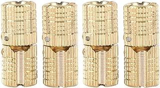 BiuZi Barrel Hinge Copper Brass Cabinet Gift Box Concealed Barrel Hinge 8mm 180° Opening Angle,4Pcs/Pack