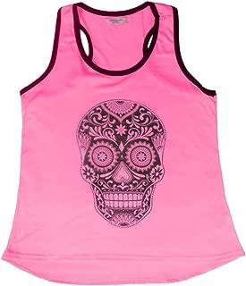 Sweet Gisele Sugar Skull Shirts for Women | V Neck T Shirt Tee | Beautiful Print Decorated with Rhinestones