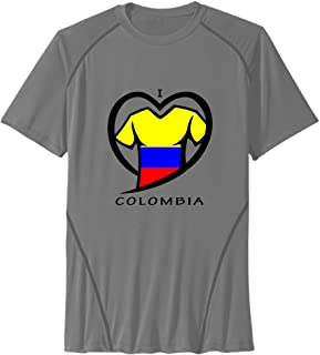 Men's I LOVE COLOMBIA Sport Quick Dry Short Sleeves T-Shirt
