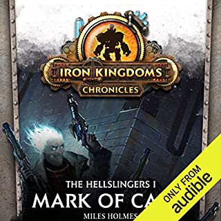 Mark of Caine     The Hellslingers, Book 1              By:                                                                                                                                 Miles Holmes                               Narrated by:                                                                                                                                 Marc Vietor                      Length: 8 hrs and 50 mins     133 ratings     Overall 4.5