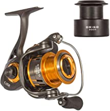 WataChamp Origo/Origo Elite Fishing Reels, Spinning Reel with Free Spare Spool, 5.2:1 Gear Ratio Smooth 5+1BB / 7+1BB for Saltwater and Freshwater