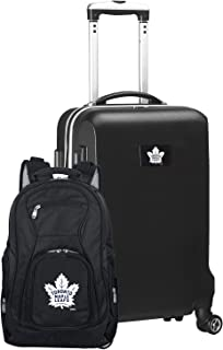 NHL Deluxe 2-Piece Backpack & Carry-On Set, Black