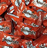 Mounds Dark Chocolate and Coconut Candy Bars, Bite Size/Mini, Wrapped, Bulk, (5 POUNDS) - Great For Snacks, Lunches, Travel, Candy Bowls, Easter, & Gifts!