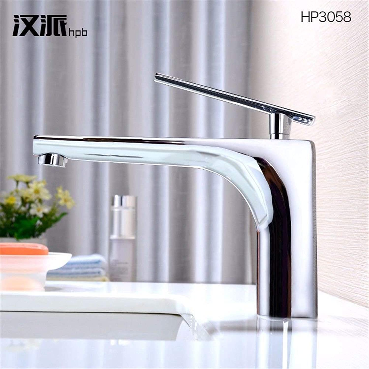 WMING HOME Sink Mixer Tap Bathroom Kitchen Basin Tap Leakproof Save Water Copper Cold And Hot Tub