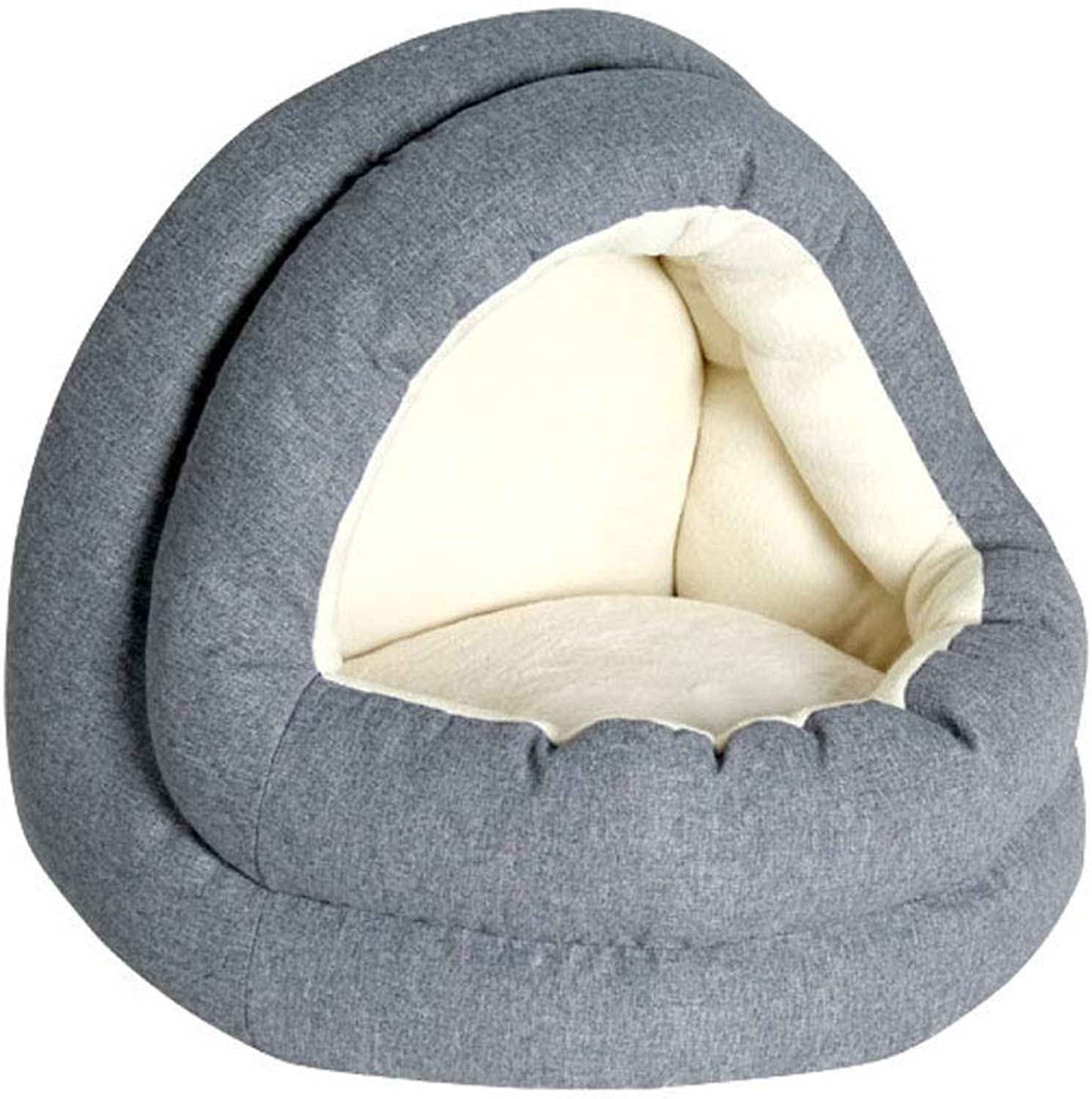 GCHOME Dog bed Cat Bed,Washable Nonslip Dog Kennel Cat Nest Sleeping Bag,Waterproof Removable Plush Warm Cushion Indoor Small Pet Nest (Size   S)