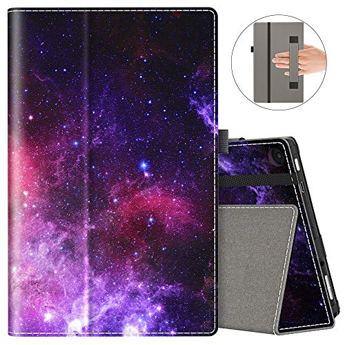 VORI Folio Case for Amazon Fire HD 8 Tablet (8th/7th/6th Generation, 2018/2017/2016 Release), Slim Premium PU Leather Stand Protective Cover with Auto Wake/Sleep, Nebula