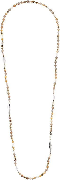 Multi Brioche Agate Layering Necklace