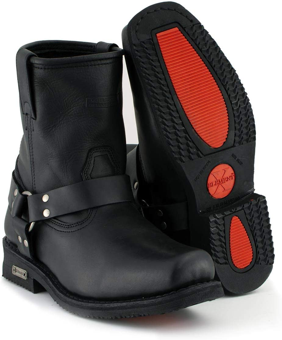 67% OFF of fixed price Large special price Xelement 1436 Men's Black Short Motorcycle 9.5 Harness Boots -