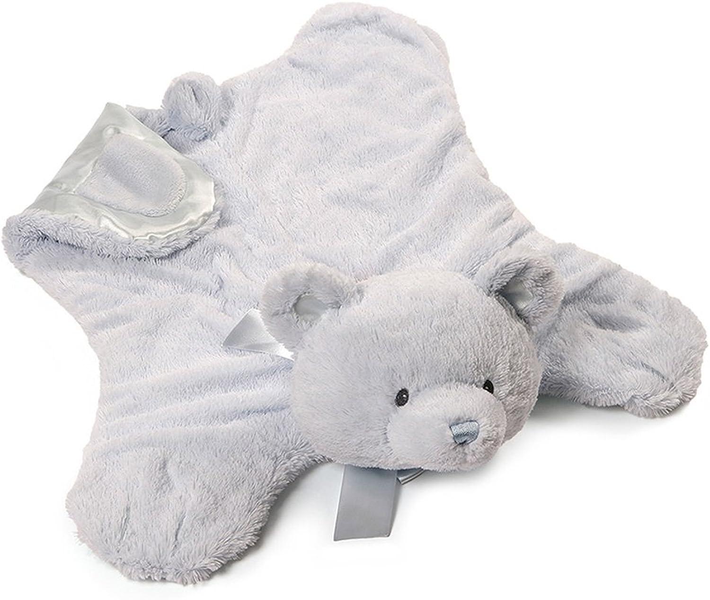 Gund Baby My First Teddy Comfy Cozy Baby Blanket, bluee