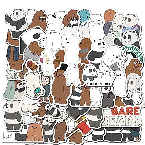PMSMT 10/30/50 Uds Lindo Oso de Dibujos Animados Graffiti Juguete para niños Equipaje portátil monopatín Pegatina para teléfono móvil Impermeable dwaterproof decoración de Agua