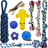 MLCINI Dog Toys Plush Dog Squeaky Toys Rope Dog Toy Dog Chew Toys Dog Toys for Medium Large Small Dogs Puppy Toys Dog Ball Dog Gift Set Dog Toy Pack Durable and Interactive Dog Toys