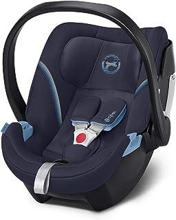 Unser Favorit CYBEX Gold Babyschale Aton 5, Inkl. Neugeboreneneinlage, Ab Geburt bis ca. 18 Monate, Max. 13 kg, Navy Blue