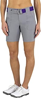 Womens Belted Heathered Golf Shorts