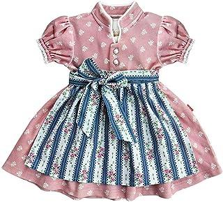 MoGo Baby - Mädchen Baby-Dirndl rosa mit Schürze blau, ROSA,