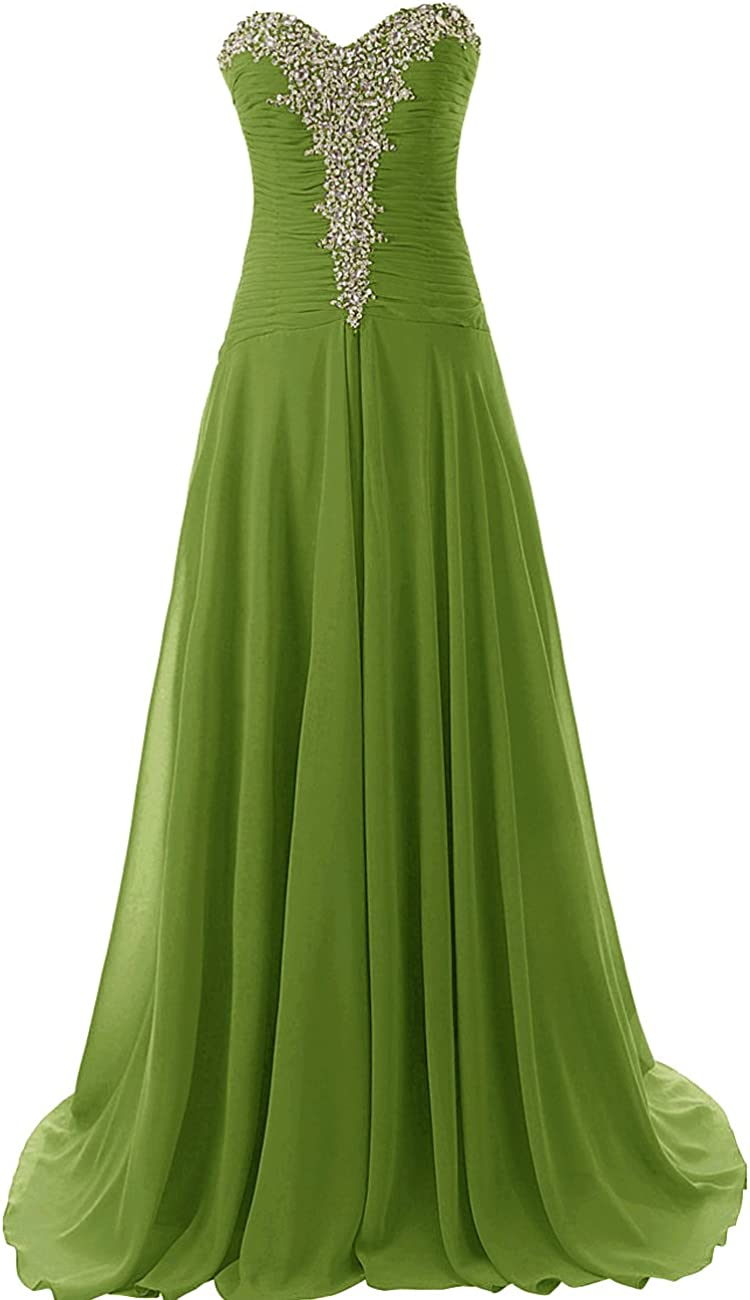 JAEDEN Prom Dress Long Chiffon Evening Gown Beading Prom Party Gown Strapless