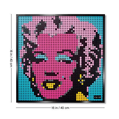 LEGO 31197 Art Andy Warhol's Marilyn Monroe Collectors DIY Poster, Wall Décor, Multipart Canvas, Set for Adults