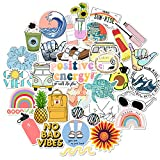 35 Pcs VSCO Vinyl Cute Waterproof Stickers for Hydro Flask, Water Bottle and Laptop - Suitable for...