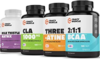 Endurance Training Stack (4 Supplement Bundle) by Crazy Muscle: Outwork Your Competition - Muscular Growth Stacks & Bundle...