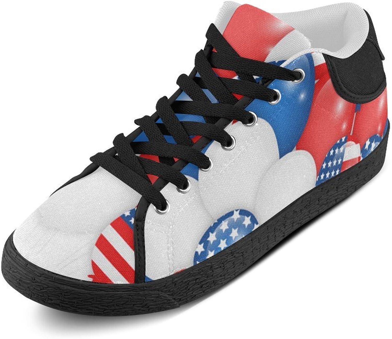 CERLYRUAN American Flag Balloon Canvas Chukka Canvas Women's shoes