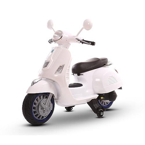 Scooter électrique LT858 pour enfants HAPPY deux vitesses monoplace 6 / 12V - Blanc