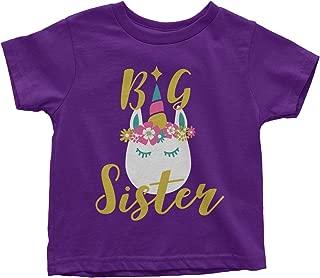 Little Girls' Unicorn Big Sister Toddler T-Shirt