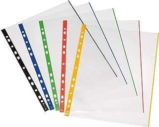 Herlitz 10914414 Pack de 50 pochettes transparentes A4 avec bord de couleur 0,07 mm (Import Allemagne)