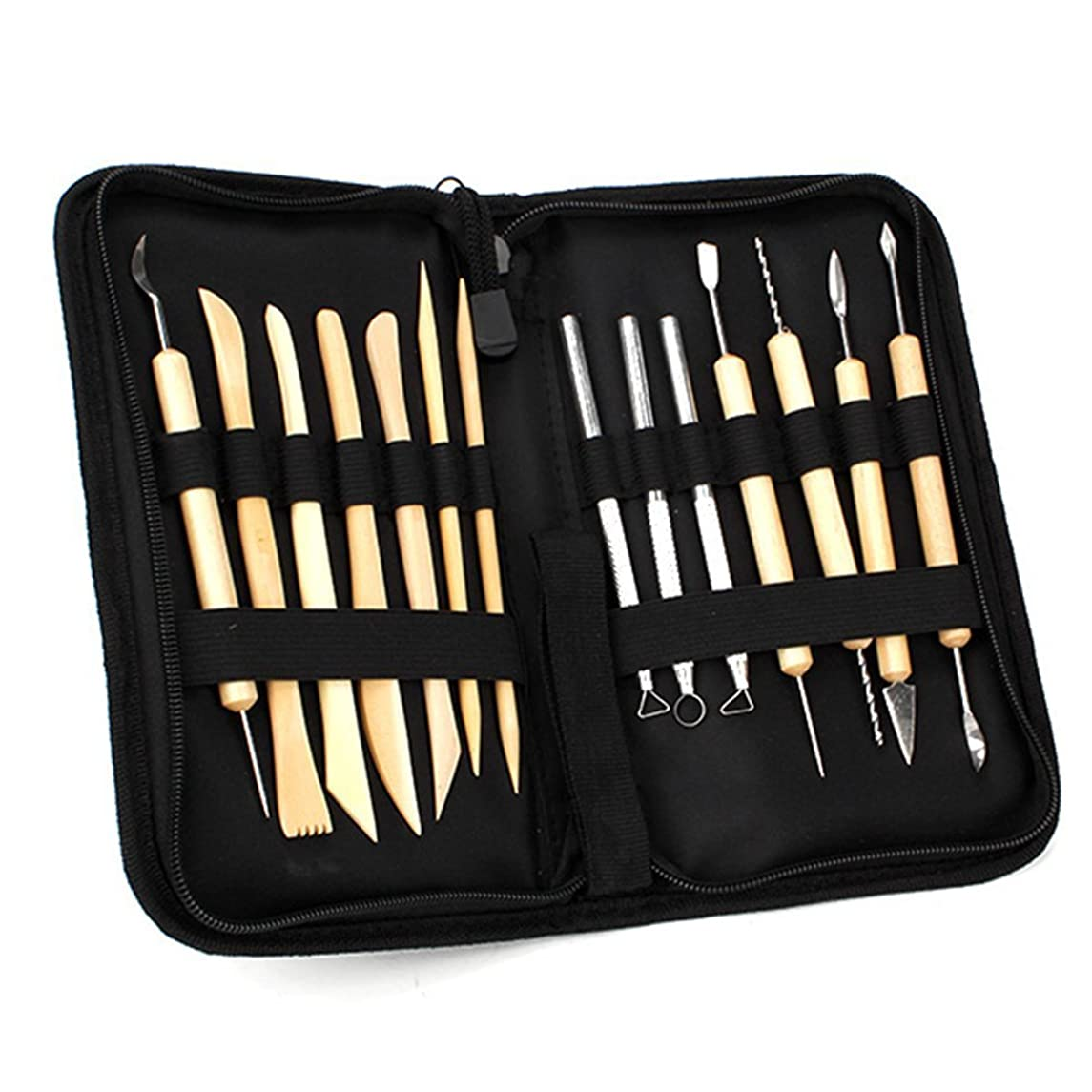 ND DN Ceramic Clay Pottery Tools Sculpting Kit Set for Drilling Hole Carving Pack of 14