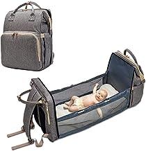 Lifesongs - Bolso cambiador para bebé con cambiador, multifunción, gran capacidad, bolso para biberones, cuna, cochecito de bebé, ganchos para viajes