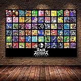 XuJinzisa Super Smash Bros. HD Game Art Poster Decoración del Hogar Sin Marco Gift50X60Cm K565