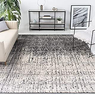 Safavieh Retro Collection RET2770 Modern Abstract Non-Shedding Stain Resistant Living Room Bedroom Area Rug, 12' x 18', Black / Light Grey (B073Q7GM9S)   Amazon price tracker / tracking, Amazon price history charts, Amazon price watches, Amazon price drop alerts