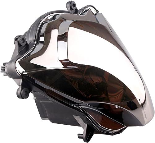 popular Mallofusa Motorcycle Headlight discount online sale Headlamp Assembly Compatible for Suzuki GSXR600 GSXR750 K6 2006 2007 Silver online sale