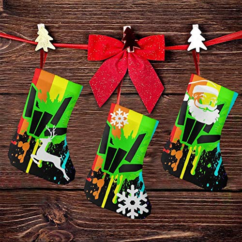 OIzjjzsJS S_T_E_P_H_En Sharer Logo 3 Pcs Set Christmas Stockings Personalized Decorations Gift for Child Holding Home Decors Tree Ornament 7.5 Inches