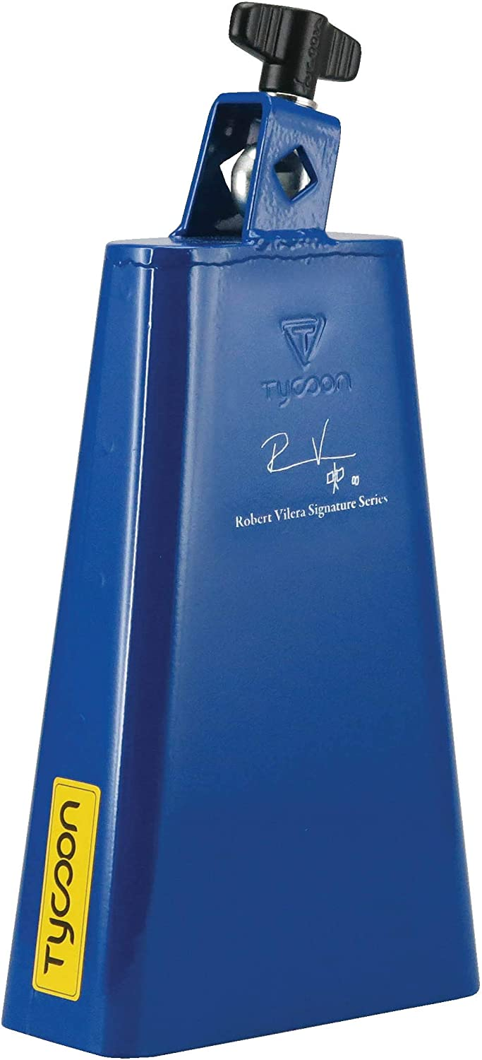 Brand new Tycoon Percussion free Cowbell Blue RVSS-MB inch