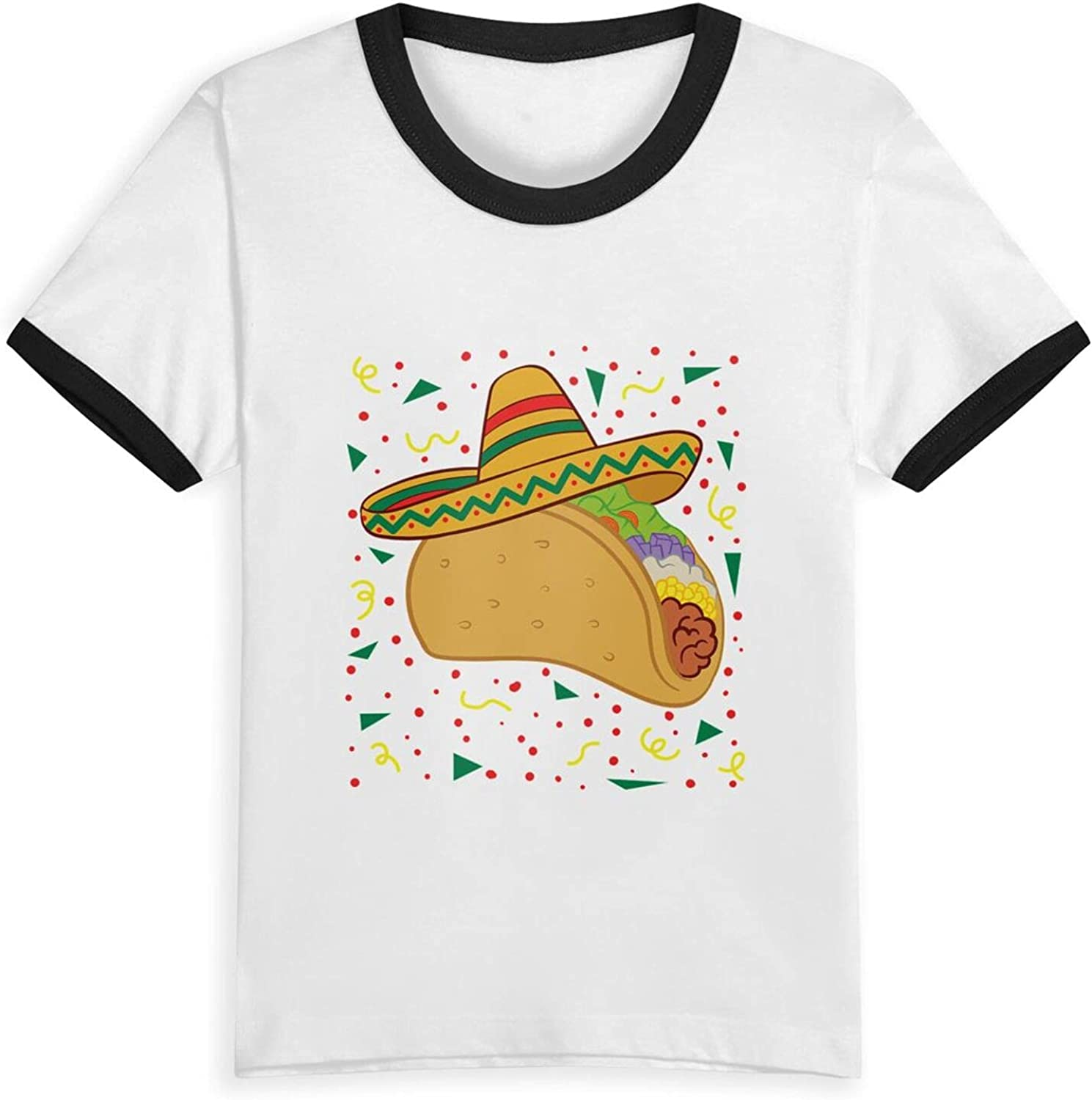 Taco Hat Vegetable T-Shirts Novelty for Kids Tees with Cool Designs