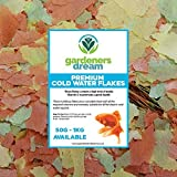 GardenersDream Cold <span class='highlight'>Water</span> Flakes | Premium Grade Nutritious Fish Food Mix | Healthy and <span class='highlight'>Natural</span> Daily Feed for <span class='highlight'>Aquarium</span> Animals | High <span class='highlight'>In</span> Prote<span class='highlight'>in</span>, Great Source of Vitam<span class='highlight'>in</span>s & Easily Digestible (250g)