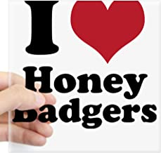 CafePress I Heart Honey Badgers Square Bumper Sticker Car Decal, 3