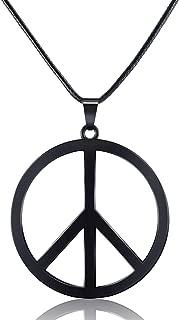1 Piece Metal Peace Sign Pendant 1960s 1970s Hippie Party Accessories Necklace