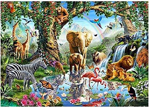 Holzpuzzles 1000 Stück für Kinder Puzzle - Tiere Weltbild, Puzzle für Erwachsene Spielzeug Puzzlespiel Kinder, kein Kleber erforderlich