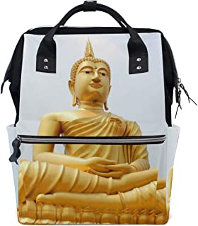 Golden Buddha Diaper Bags Nappy Backpacks Mummy Backpack Travel Laptop Daypack