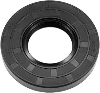 uxcell Oil Seal, TC 35mm x 72mm x 10mm, Nitrile Rubber Cover Double Lip