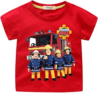 Toddler Boys' Fireman Sam Characters T-Shirt For 1-13Yrs Little And Boys