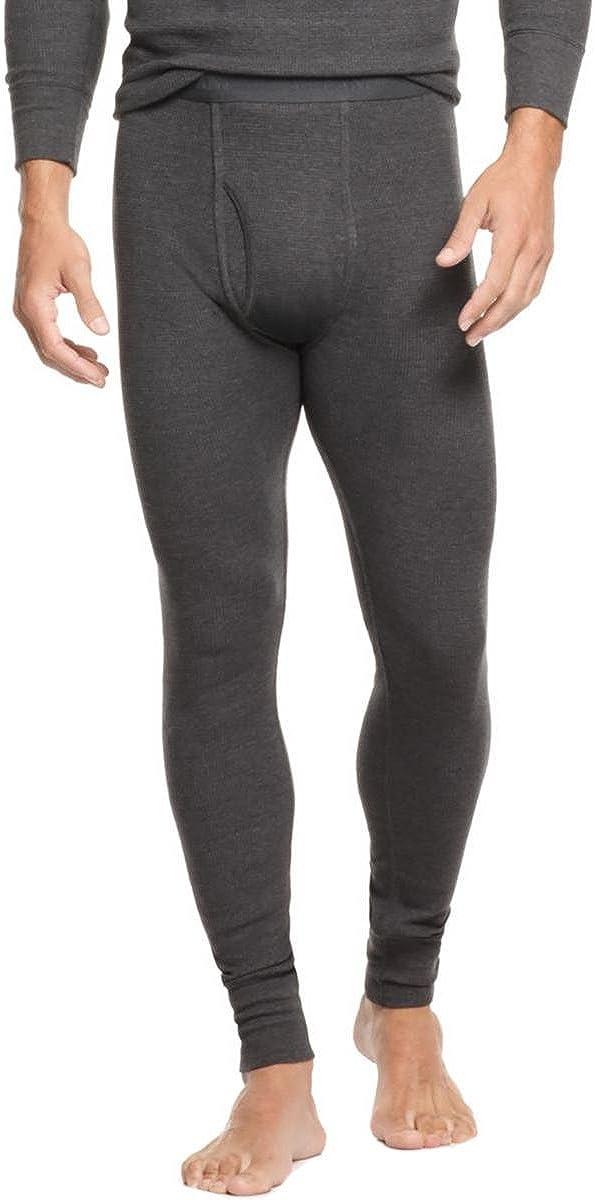 Alfani Mens Thermal Waffle Knit Long Underwear Black XXL