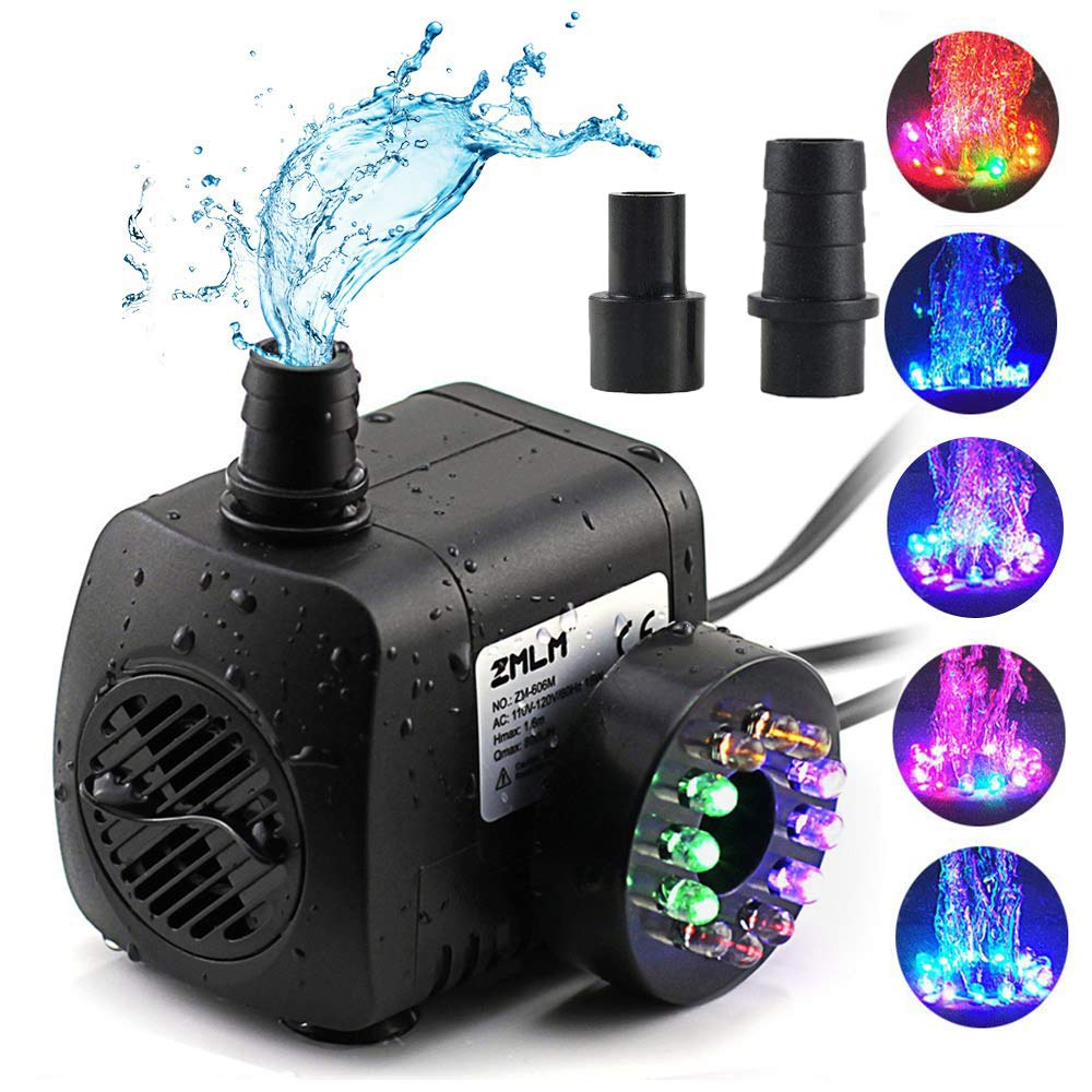 ZMLM Submersible Colorful Fountain Hydroponic