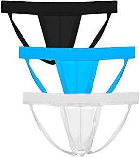 FORNY Mens Sexy Underwears Jock Strap Open Back Breathable Pouch Thongs