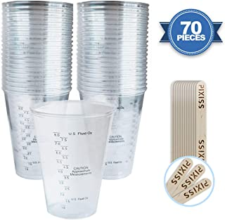 Disposable Epoxy Resin Mixing Cups Clear Plastic 10-Ounce 50-Pack for Measuring Paint Epoxy Resin