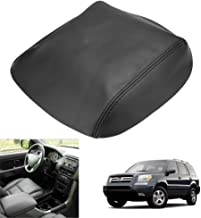 QKPARTS Real Leather Center Console Lid Armrest Cover Fits 2009-2015 Honda Pilot Black NEW