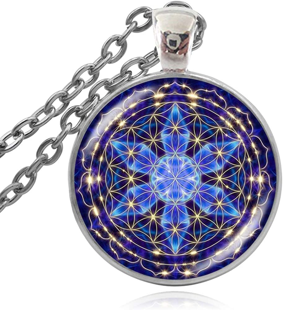 Cube Flower of Life Popular products Pendant New mail order Chakra Sacred Spir Geometry Necklace