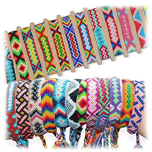 Novelty Place 10 Pcs Woven Bracelet Bulk for Women, Kids & Girls - Nepal Style Friendship Bracelets Handmade Braided Rope Wrist String Chain (Random Colors & Patterns)